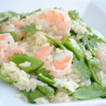 Cilantro Lime Shrimp Salad with Snow Peas & Orzo