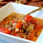 Fire Roasted Tomato and Wild Rice Soup